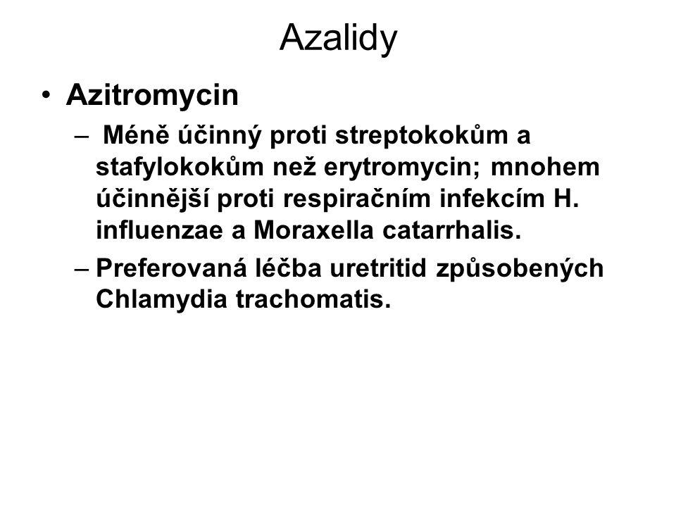 Azalidy Azitromycin.