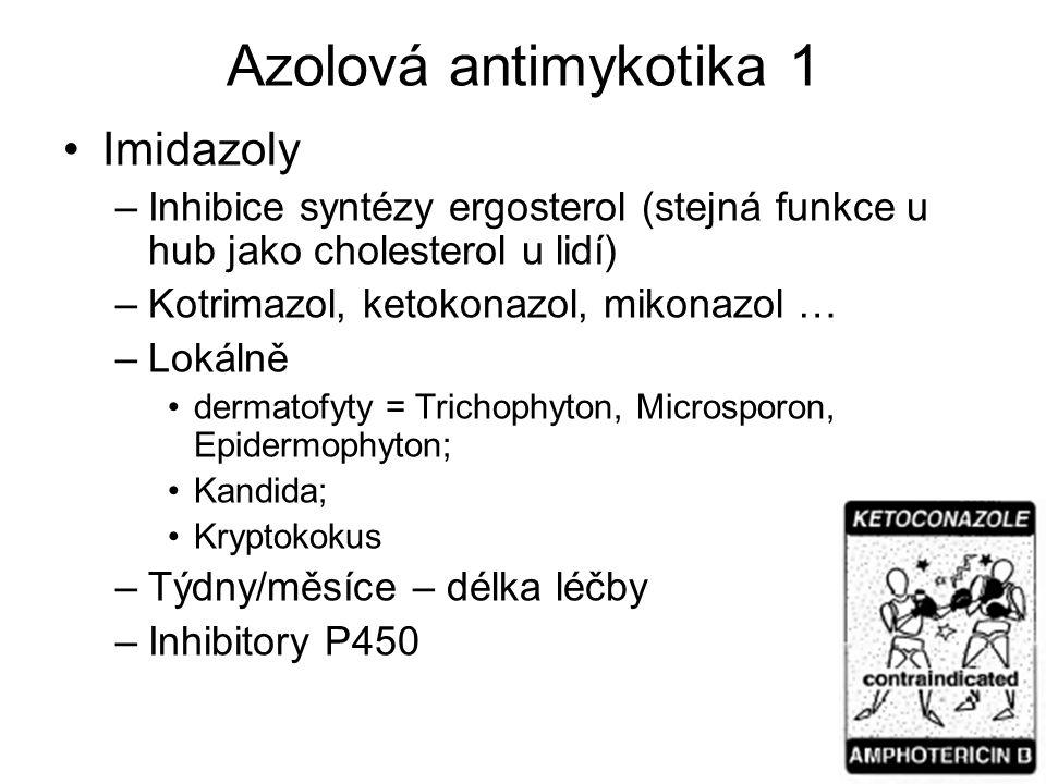 Azolová antimykotika 1 Imidazoly