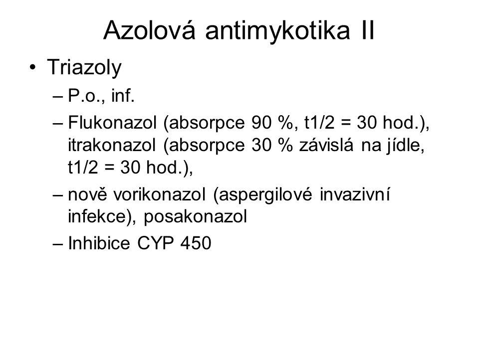 Azolová antimykotika II
