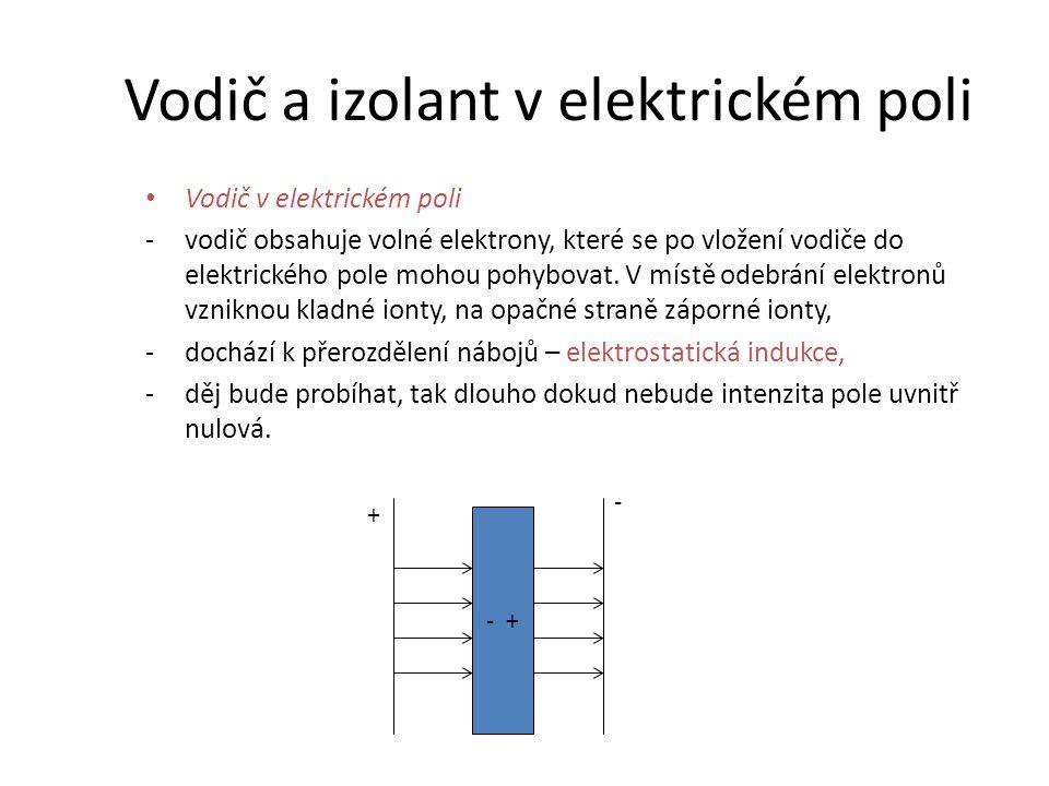 Vodič a izolant v elektrickém poli