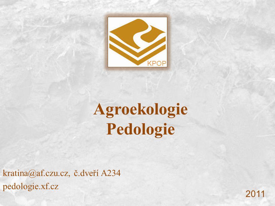Agroekologie Pedologie