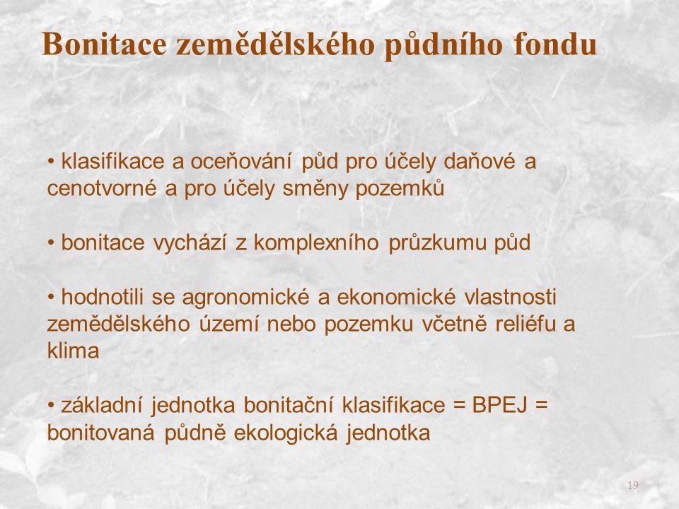 Bonitace zemědělského půdního fondu