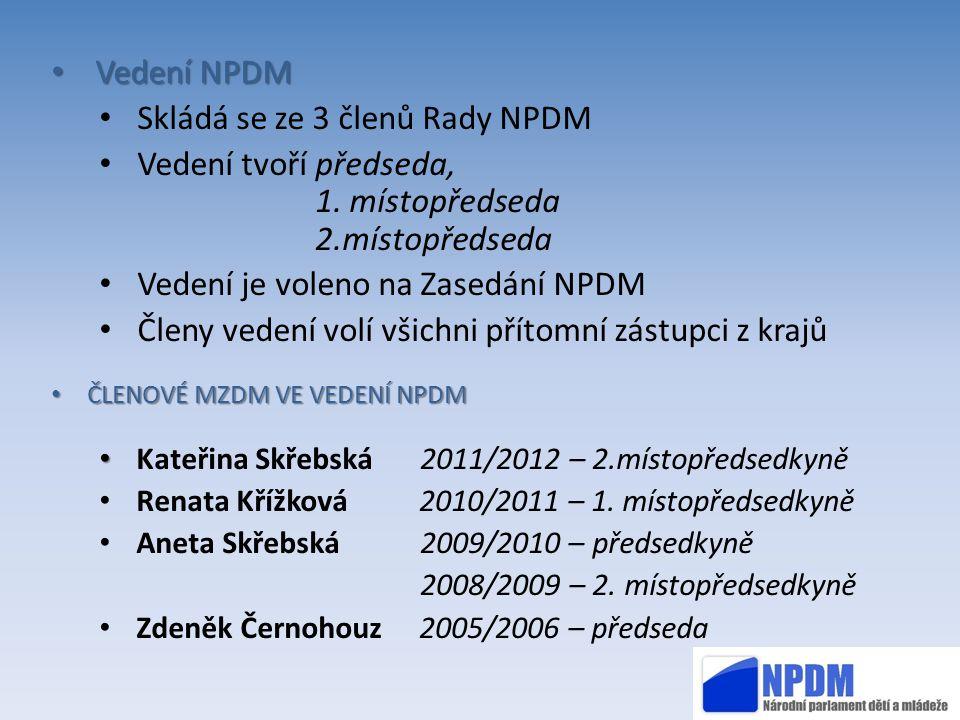 Skládá se ze 3 členů Rady NPDM