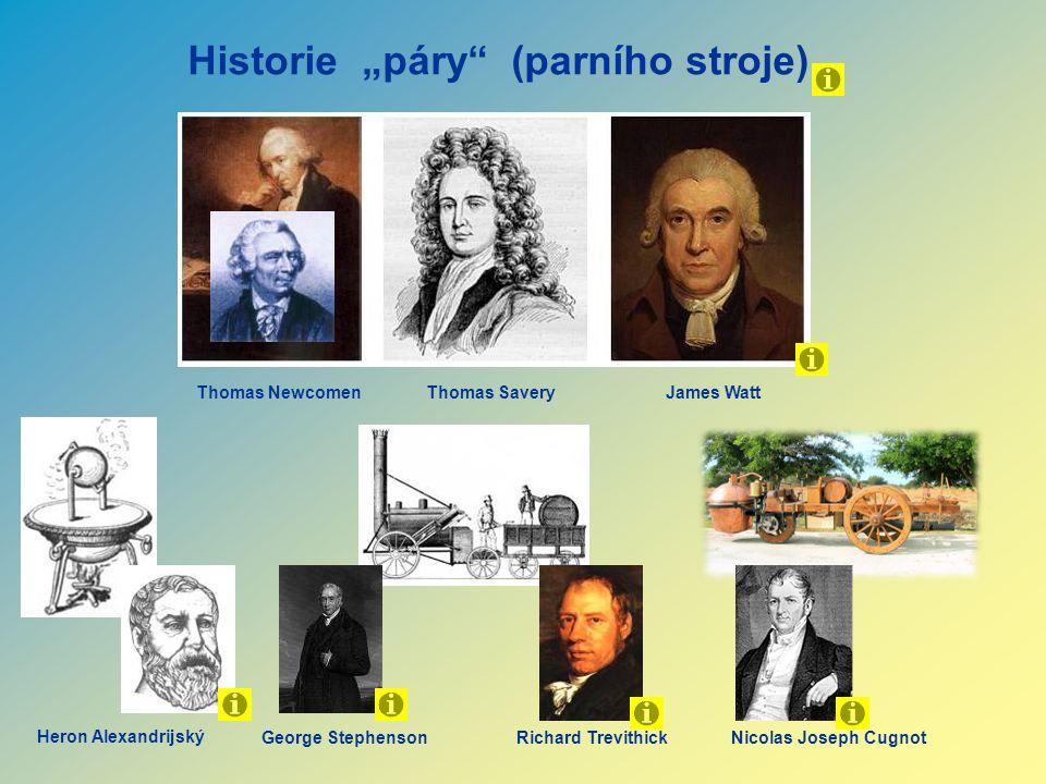 """Historie """"páry (parního stroje)"""