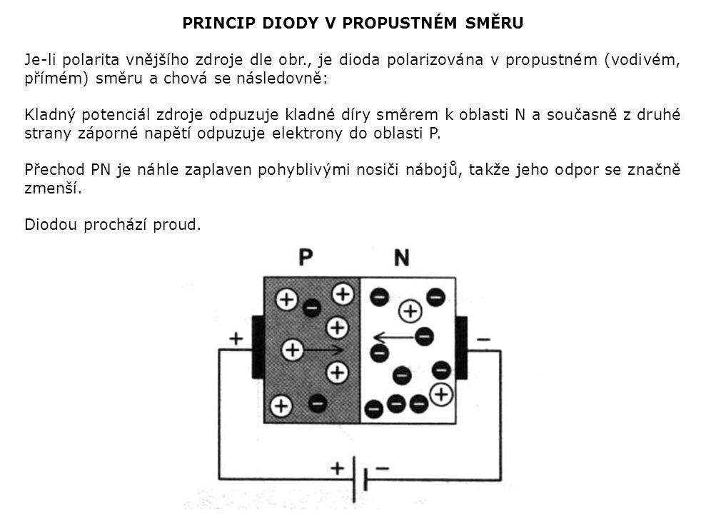 PRINCIP DIODY V PROPUSTNÉM SMĚRU