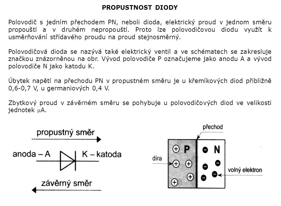 PROPUSTNOST DIODY