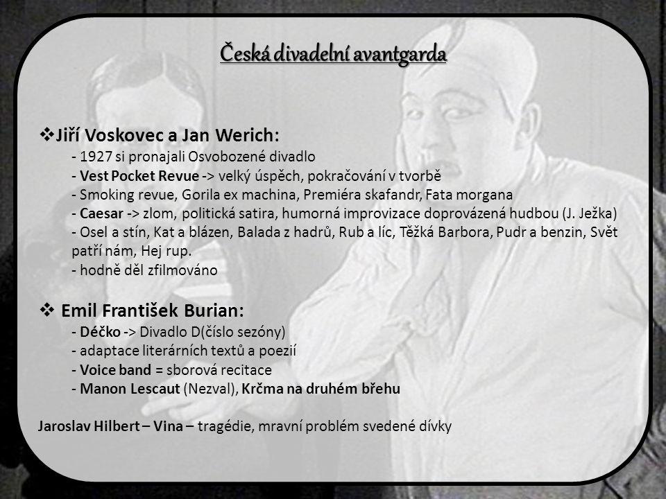 Česká divadelní avantgarda