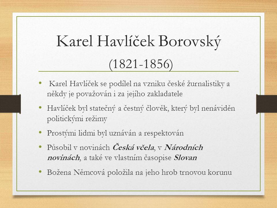 Karel Havlíček Borovský (1821-1856)
