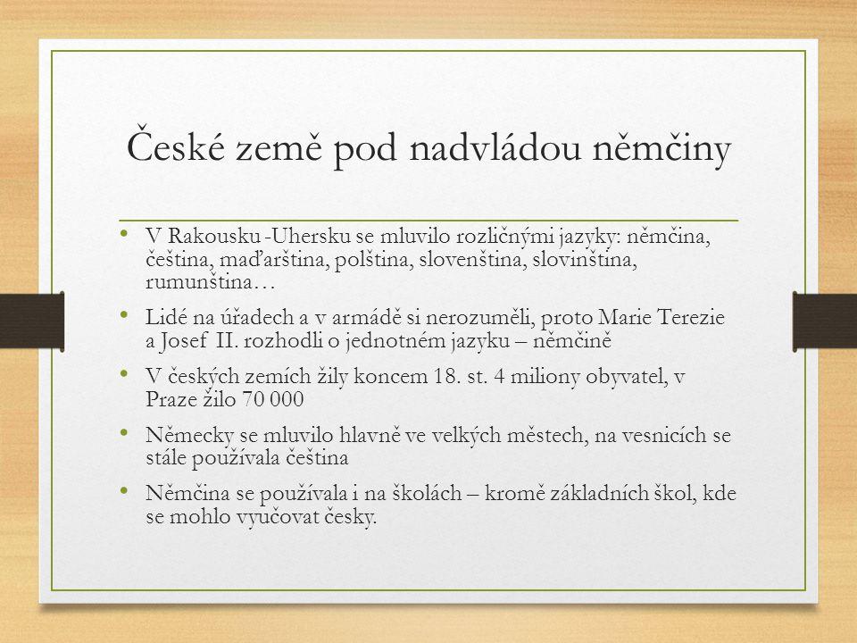 České země pod nadvládou němčiny
