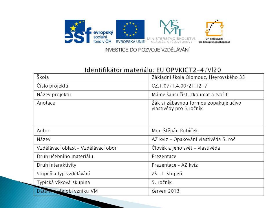 Identifikátor materiálu: EU OPVKICT2-4/Vl20