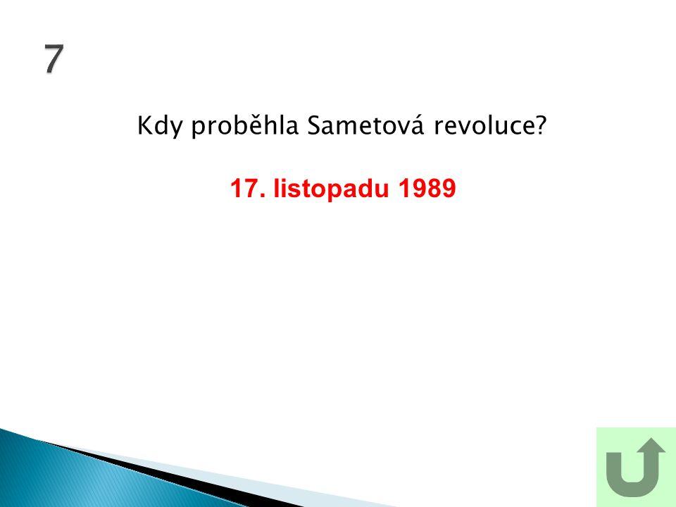 Kdy proběhla Sametová revoluce