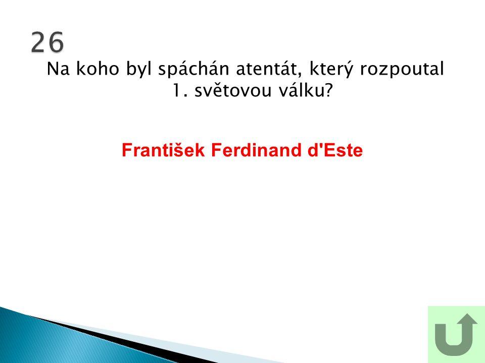 František Ferdinand d Este
