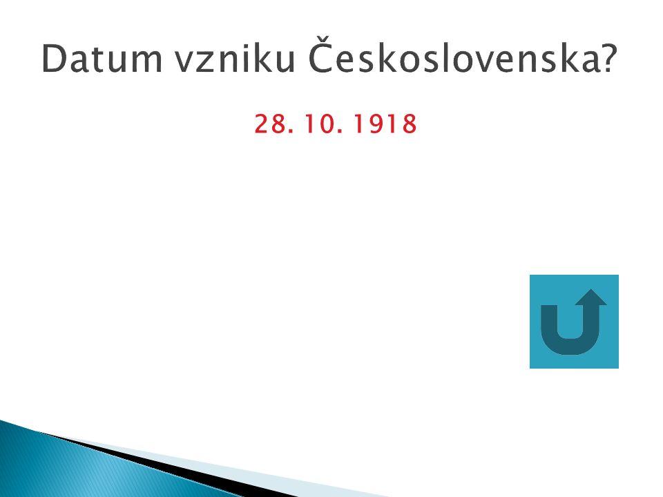 Datum vzniku Československa