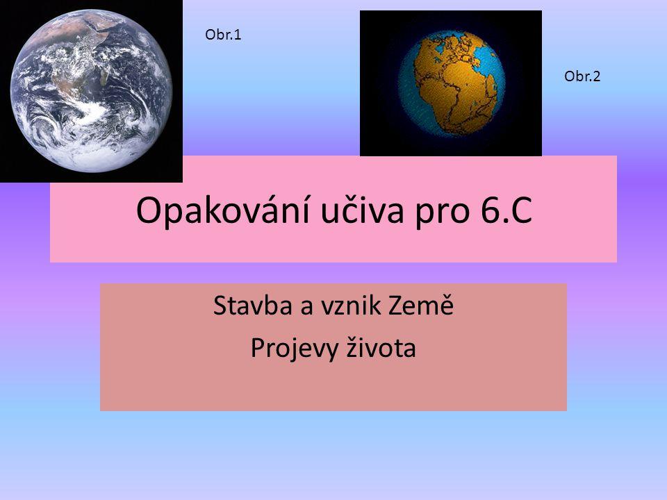 Stavba a vznik Země Projevy života