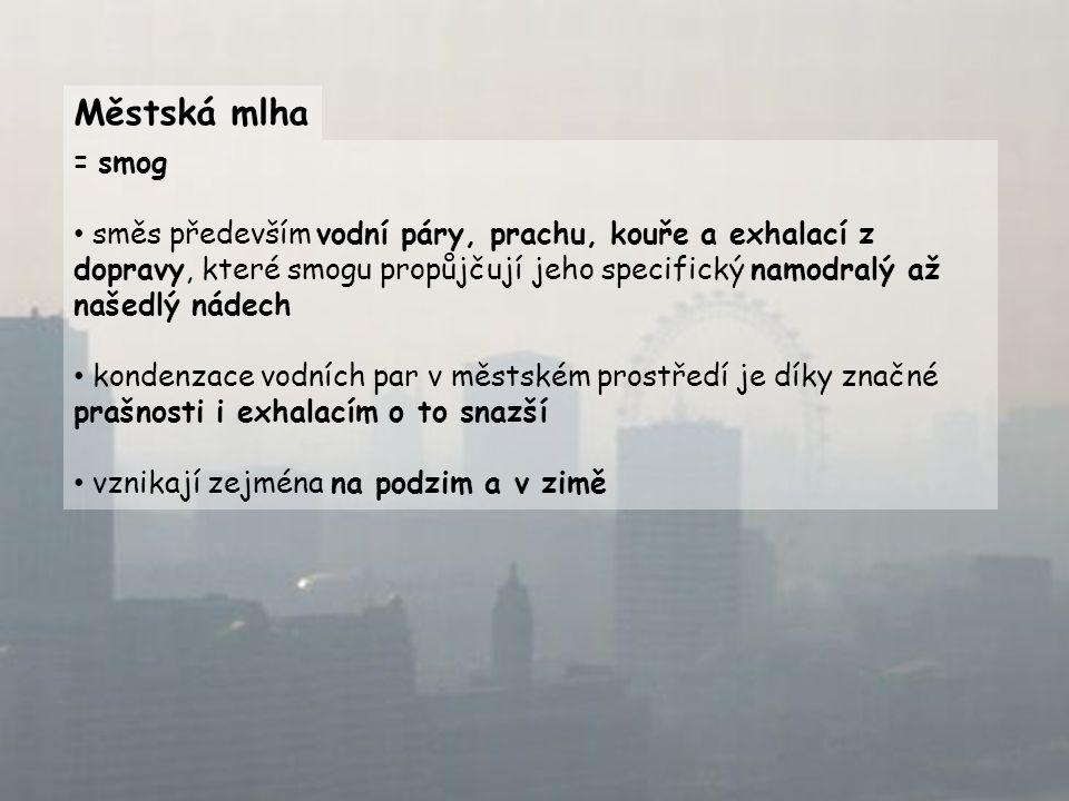 Městská mlha = smog.