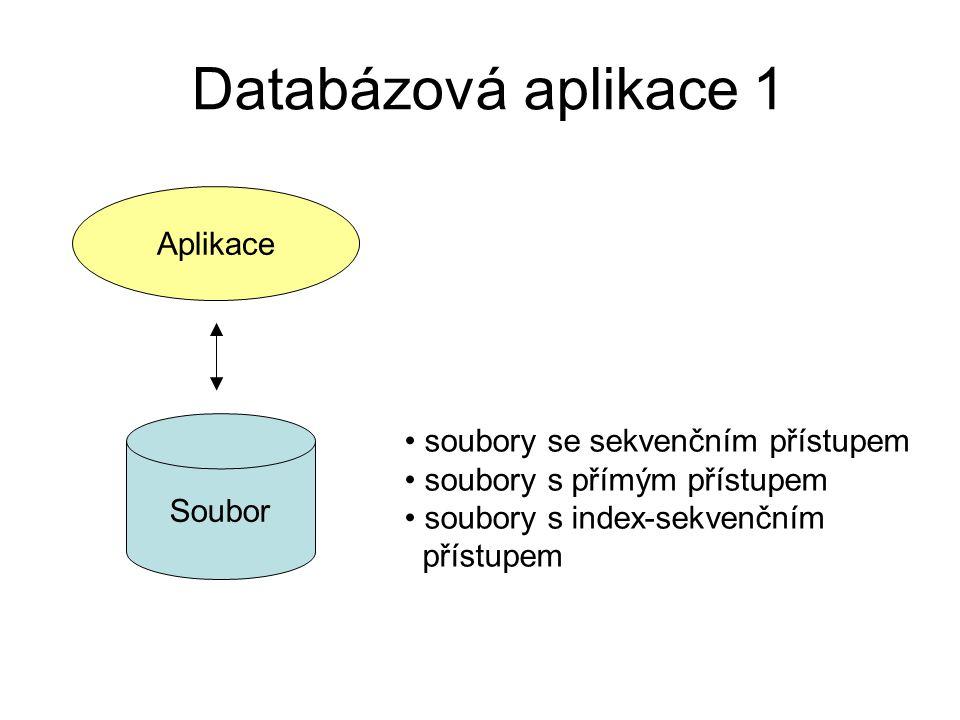 Databázová aplikace 1 Aplikace soubory se sekvenčním přístupem