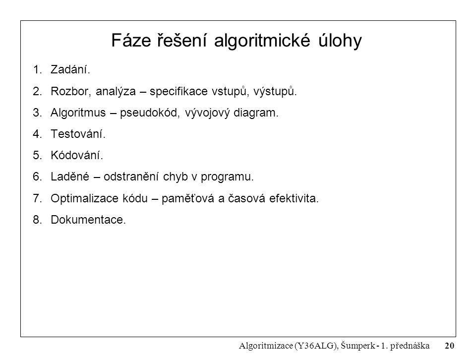 Fáze řešení algoritmické úlohy