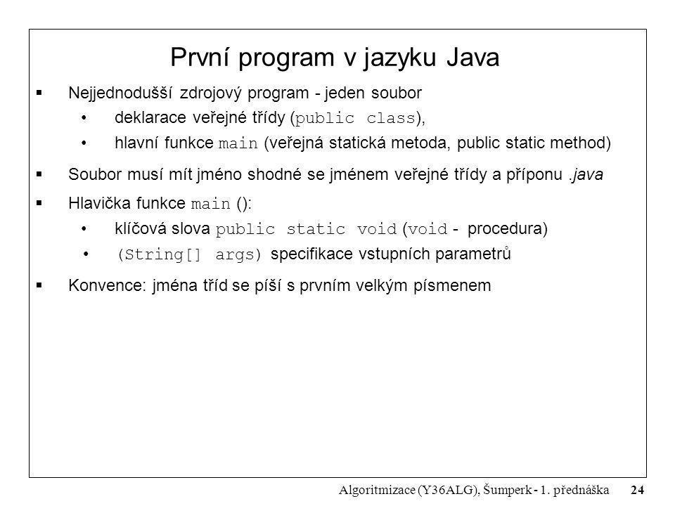 První program v jazyku Java