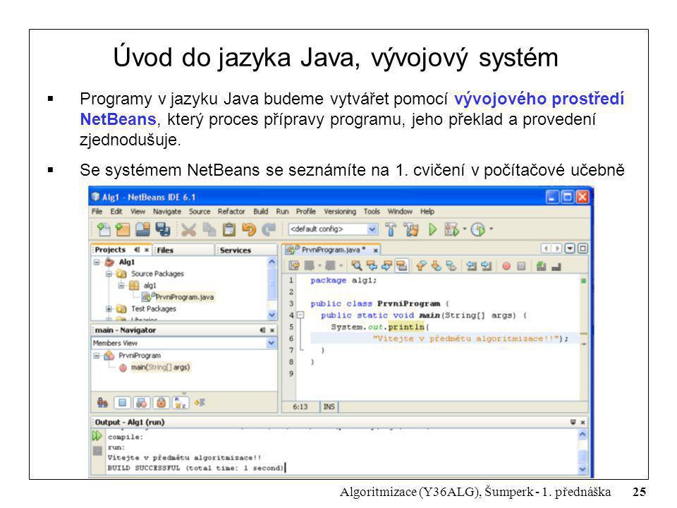 Úvod do jazyka Java, vývojový systém