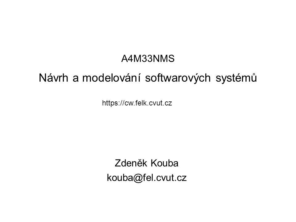A4M33NMS Návrh a modelování softwarových systémů