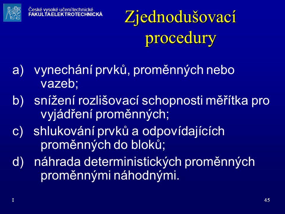 Zjednodušovací procedury