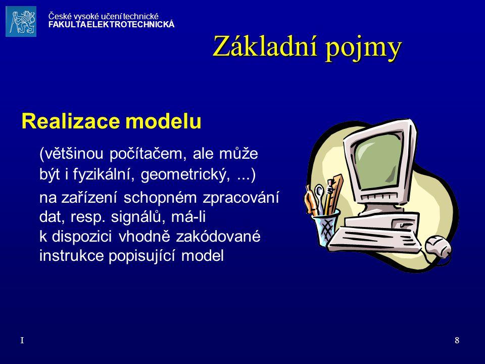 Základní pojmy Realizace modelu