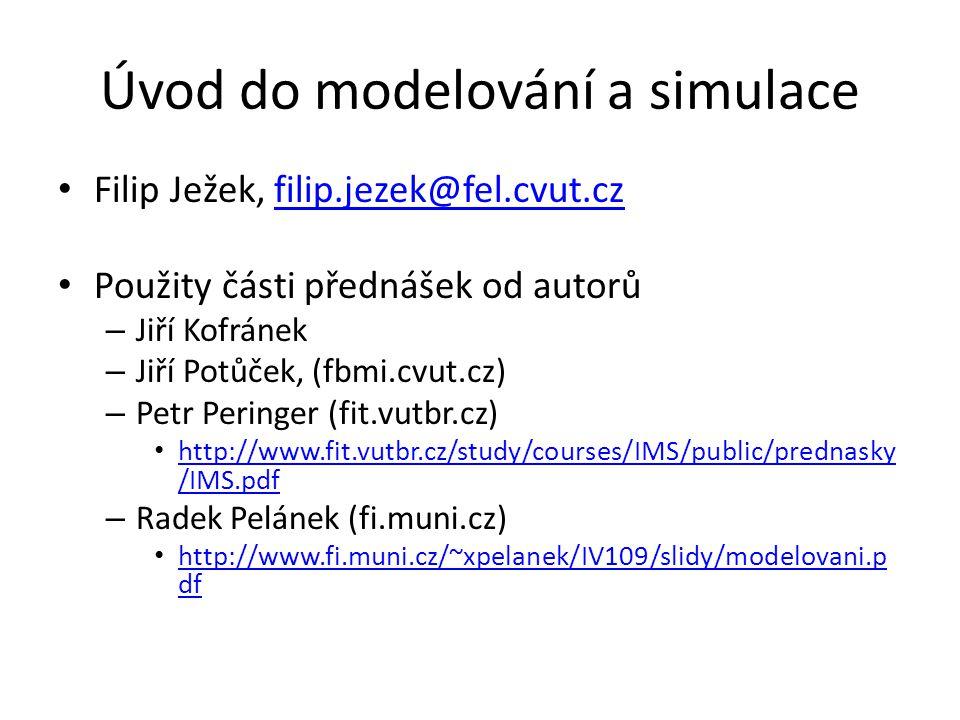 Úvod do modelování a simulace