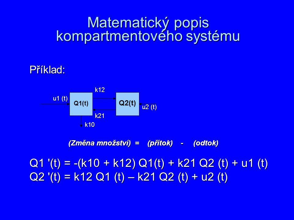 Matematický popis kompartmentového systému