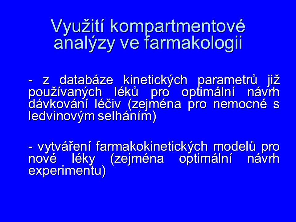 Využití kompartmentové analýzy ve farmakologii