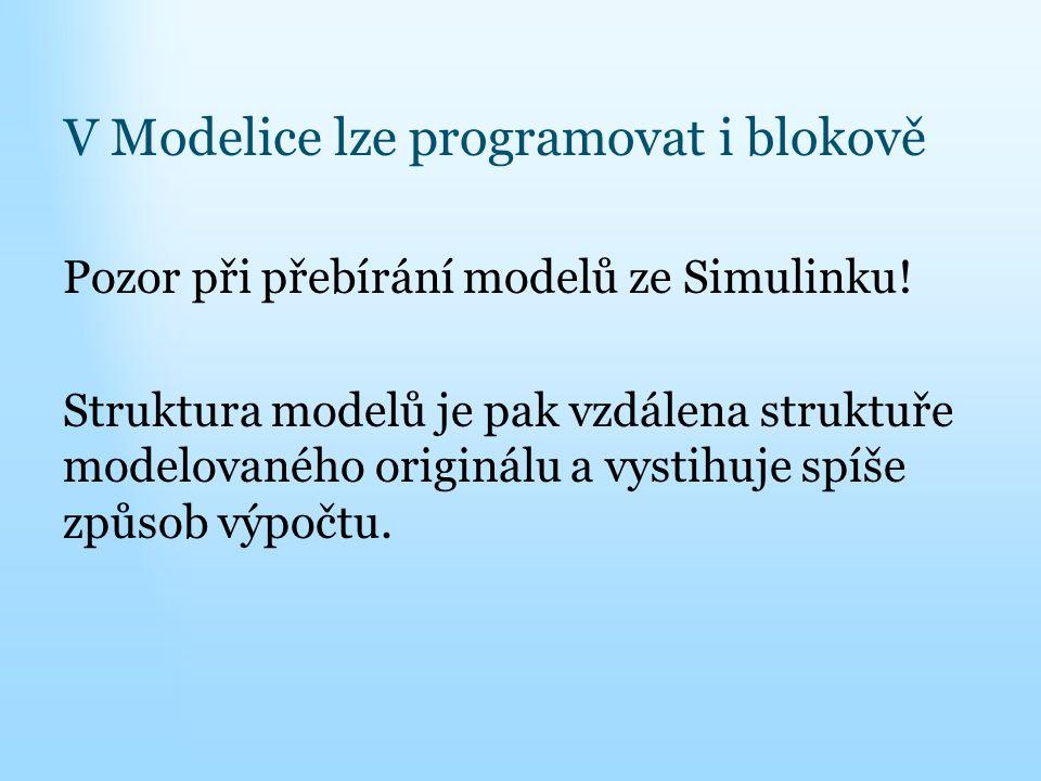 V Modelice lze programovat i blokově