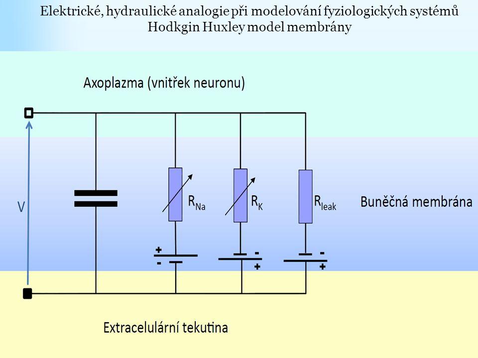 Elektrické, hydraulické analogie při modelování fyziologických systémů