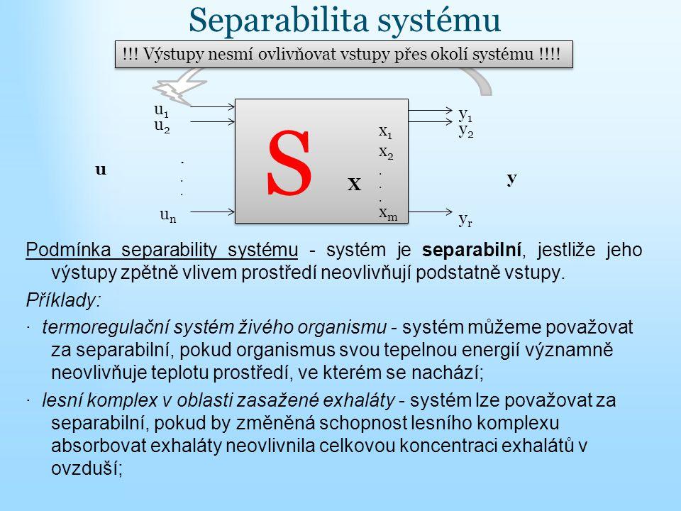 S Separabilita systému
