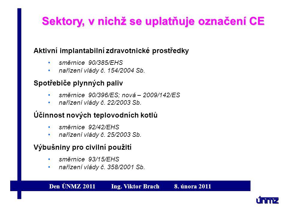 Sektory, v nichž se uplatňuje označení CE