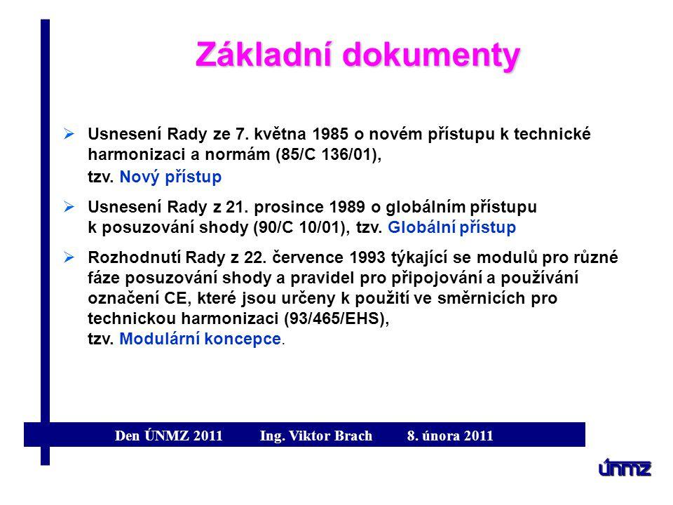 Základní dokumenty Usnesení Rady ze 7. května 1985 o novém přístupu k technické harmonizaci a normám (85/C 136/01), tzv. Nový přístup.