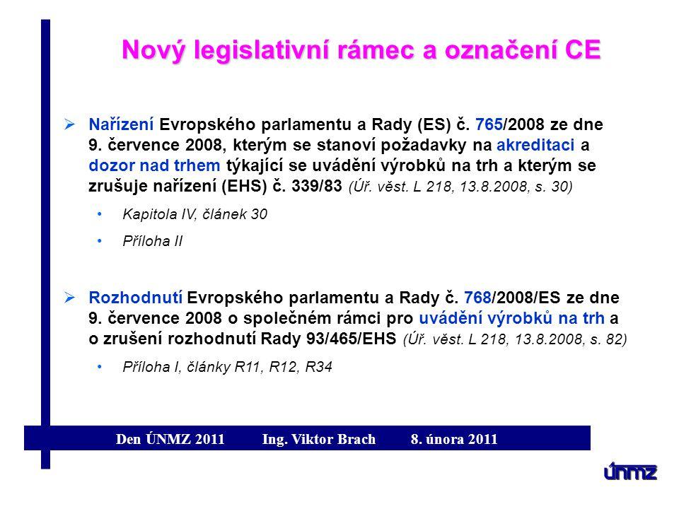 Nový legislativní rámec a označení CE