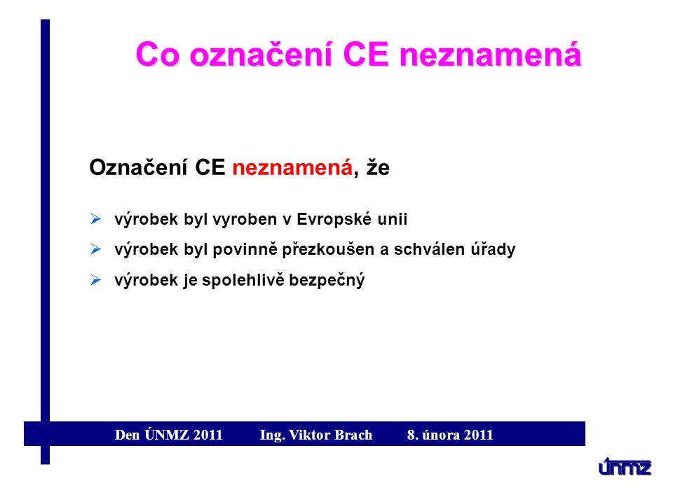 Co označení CE neznamená