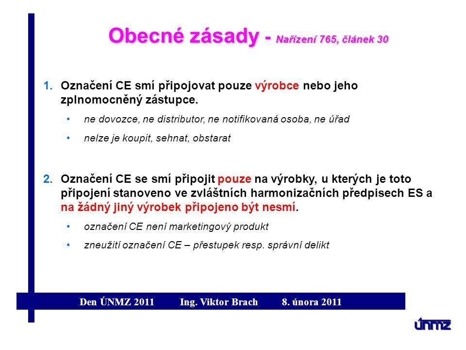 Obecné zásady - Nařízení 765, článek 30