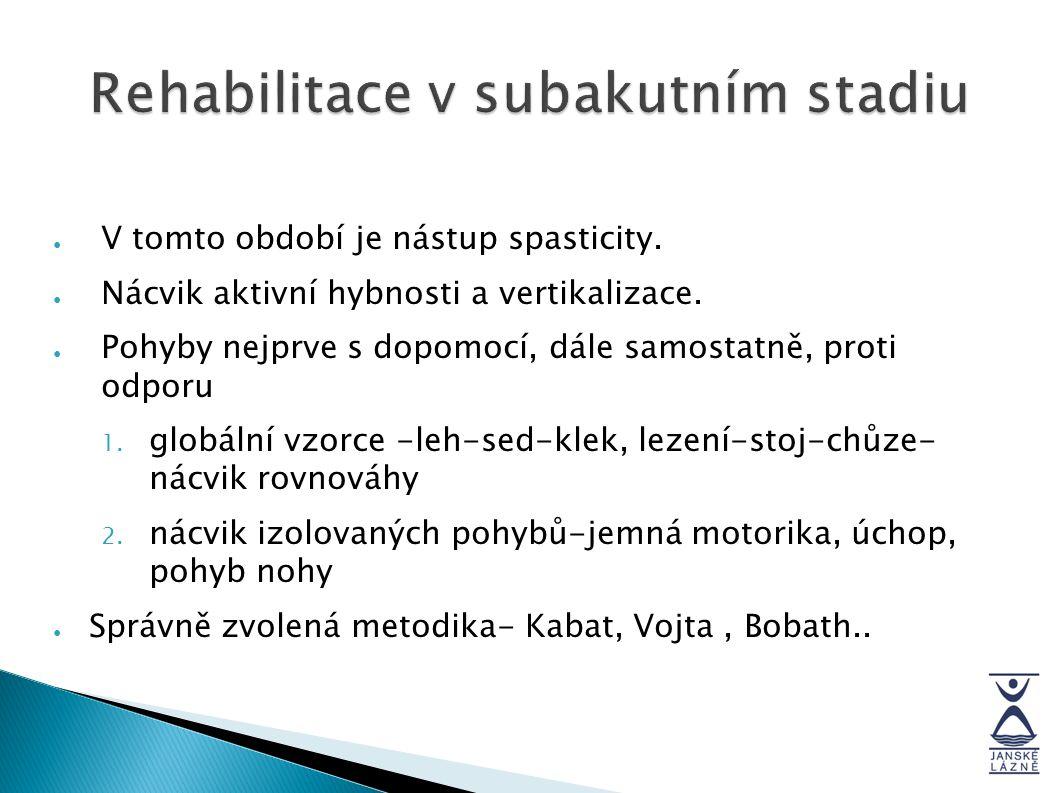 Rehabilitace v subakutním stadiu