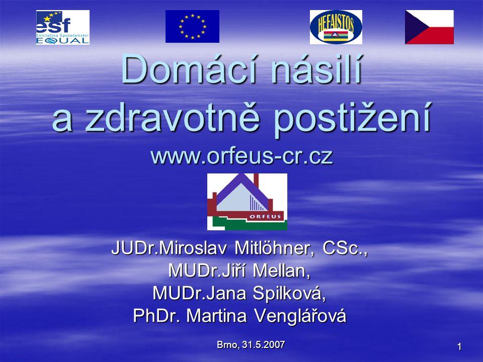 Domácí násilí a zdravotně postižení www.orfeus-cr.cz