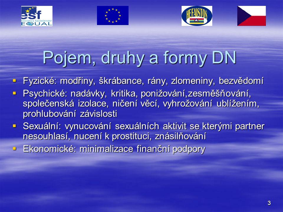 Pojem, druhy a formy DN Fyzické: modřiny, škrábance, rány, zlomeniny, bezvědomí.