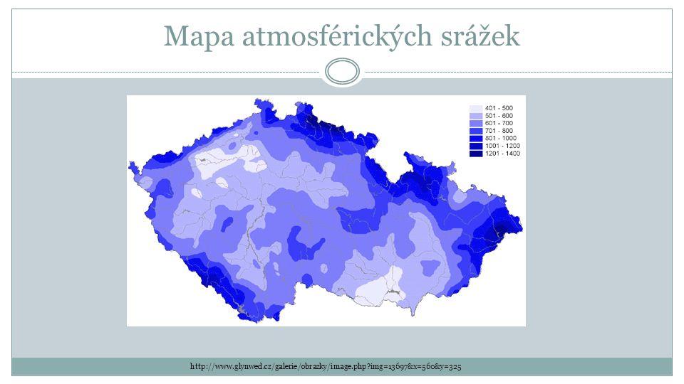 Mapa atmosférických srážek
