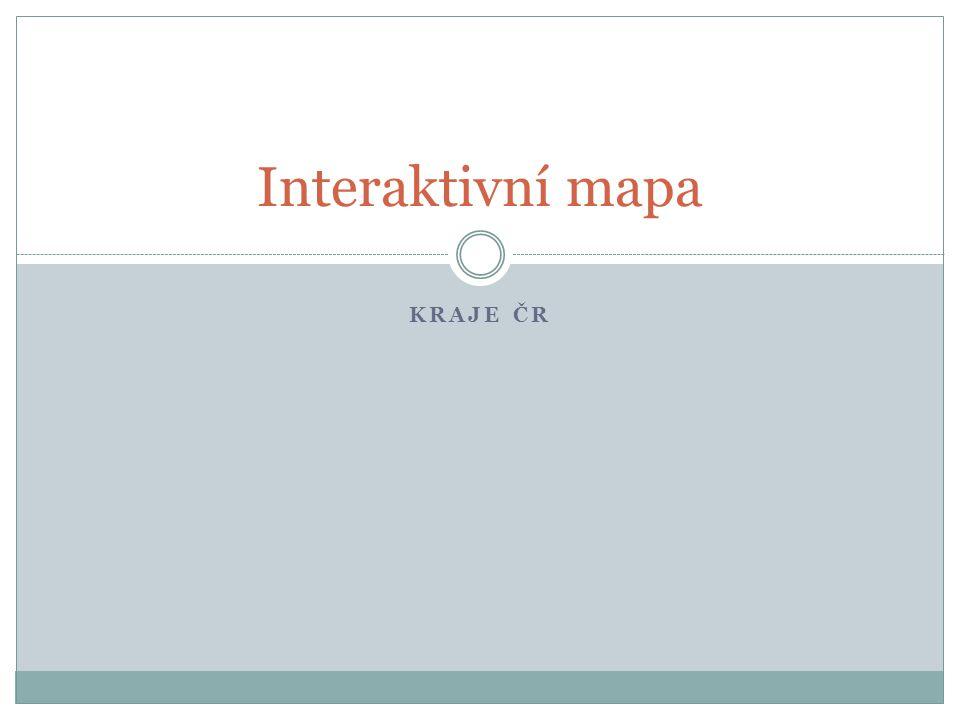 Interaktivní mapa kraje čr
