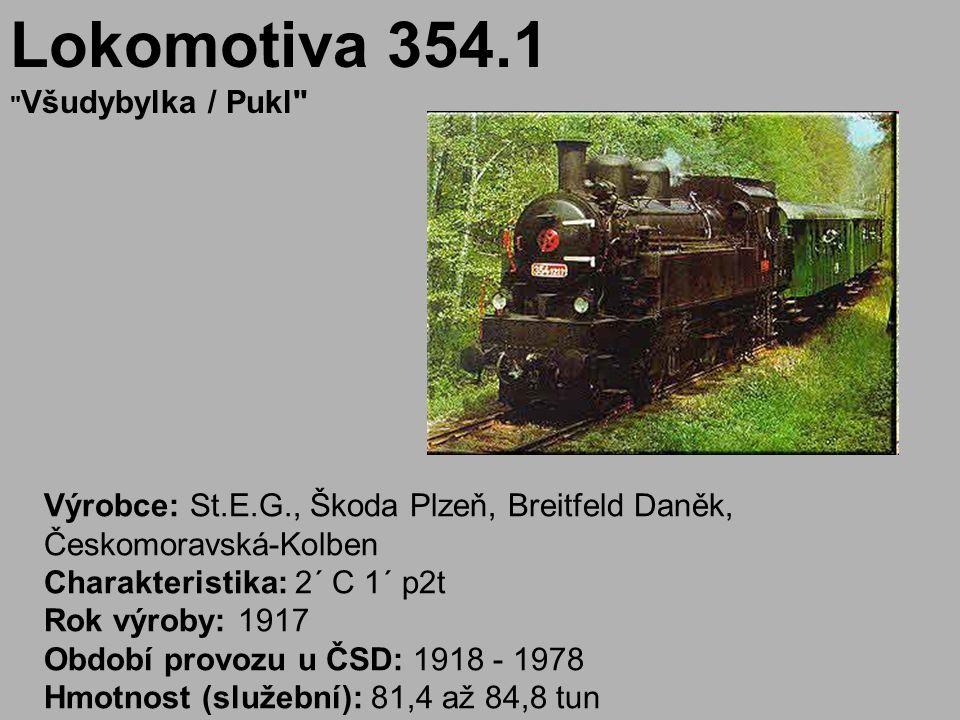 Lokomotiva 354.1 Všudybylka / Pukl