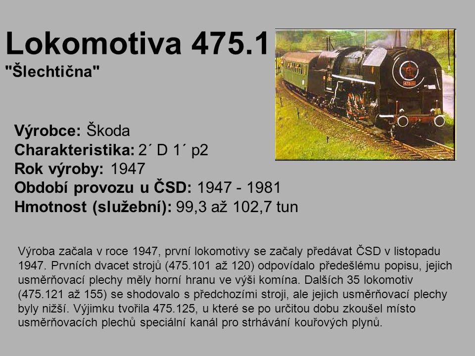 Lokomotiva 475.1 Šlechtična