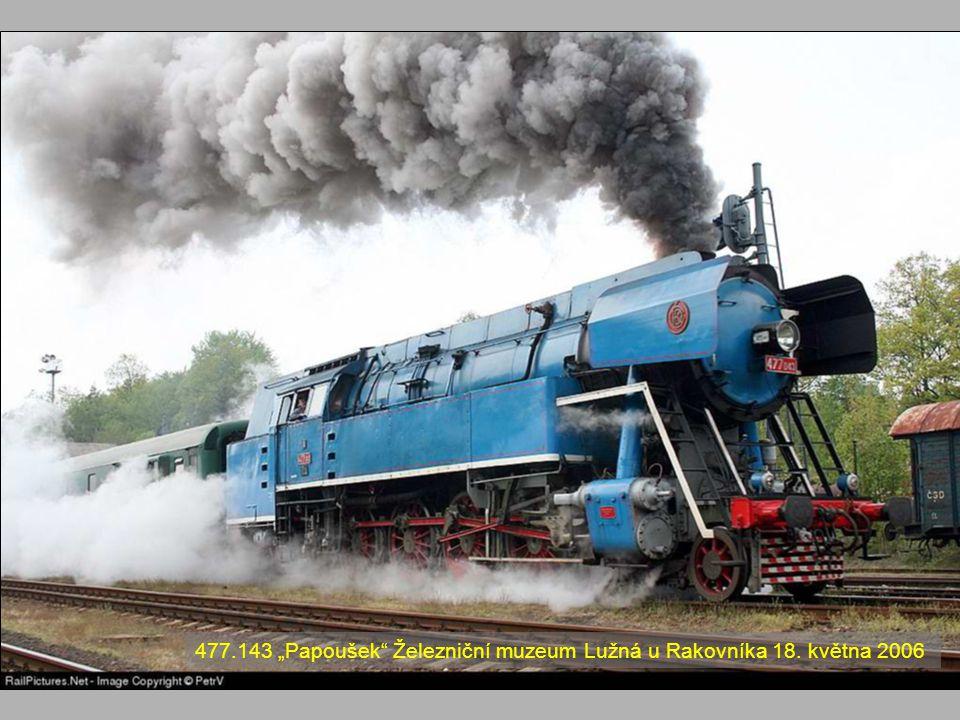 """477.143 """"Papoušek Železniční muzeum Lužná u Rakovníka 18. května 2006"""