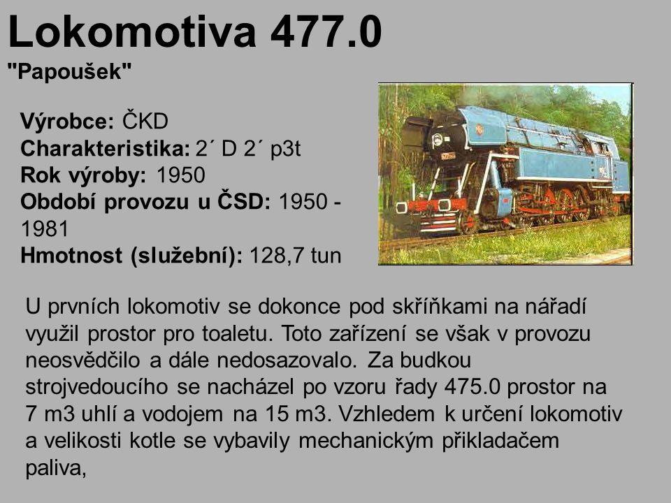 Lokomotiva 477.0 Papoušek