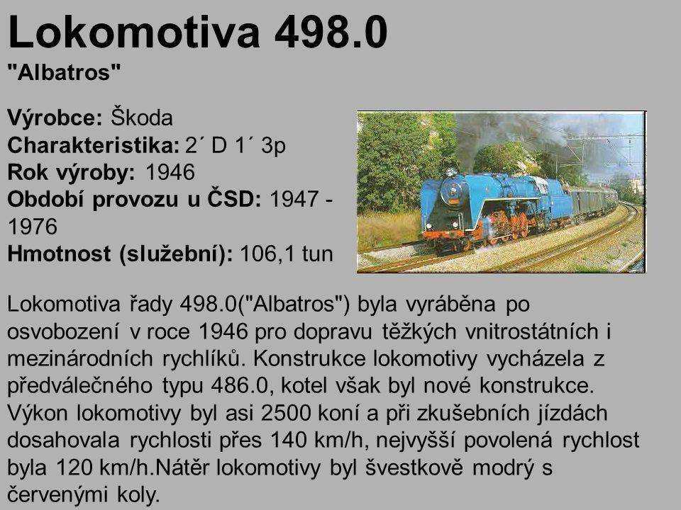 Lokomotiva 498.0 Albatros