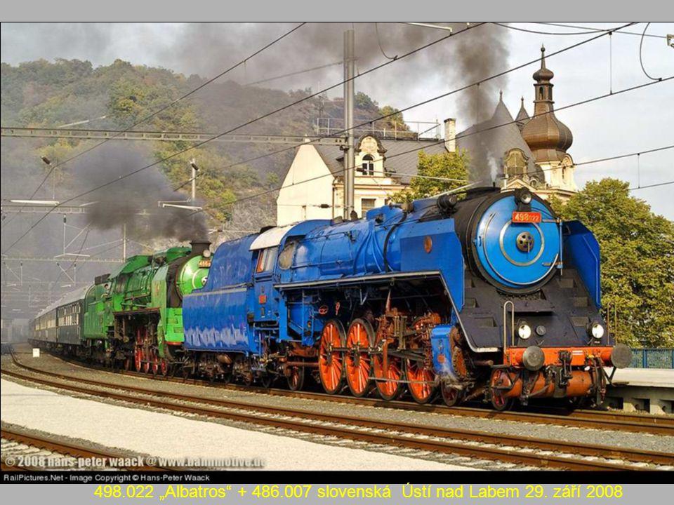 """498.022 """"Albatros + 486.007 slovenská Ústí nad Labem 29. září 2008"""