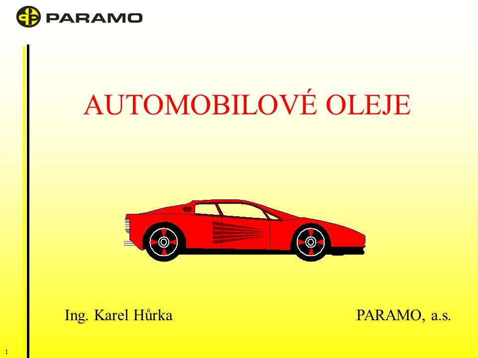 AUTOMOBILOVÉ OLEJE Ing. Karel Hůrka PARAMO, a.s.