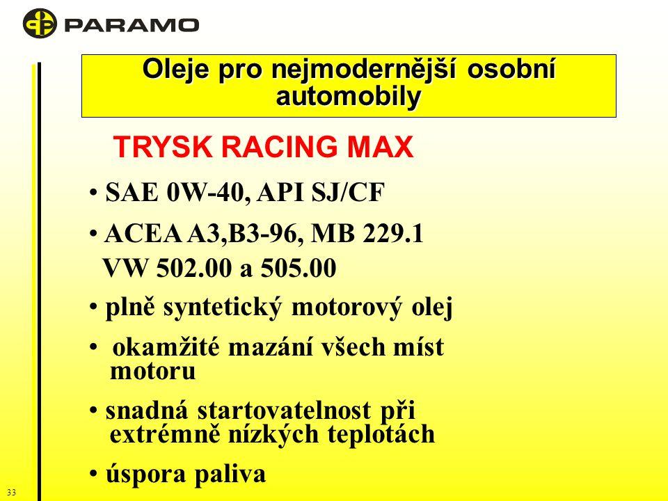 Oleje pro nejmodernější osobní automobily